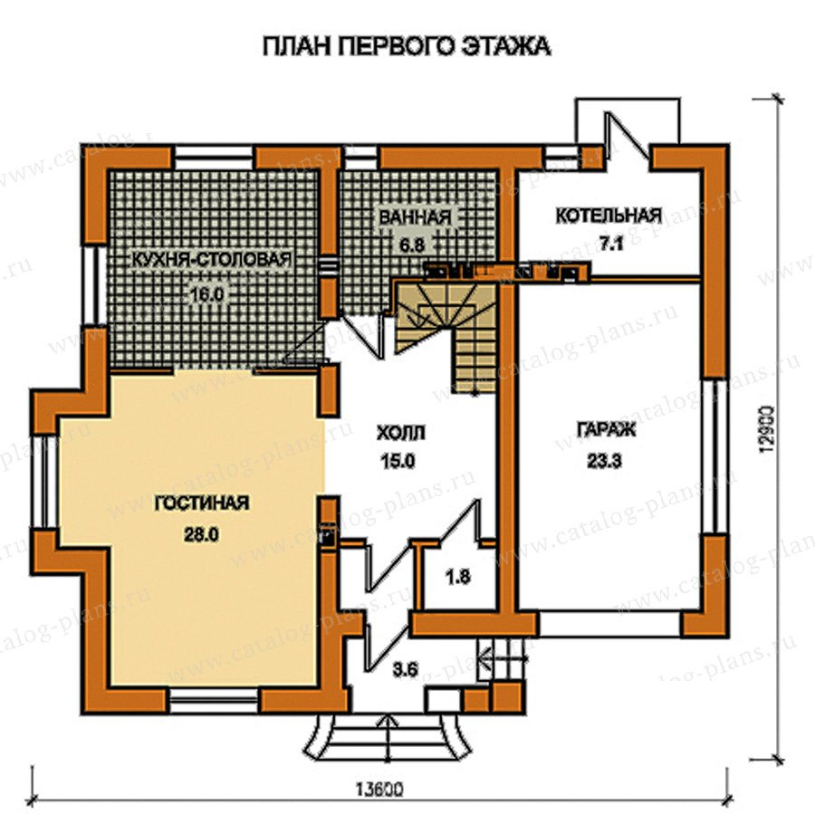 План 1-этажа проекта 59-48