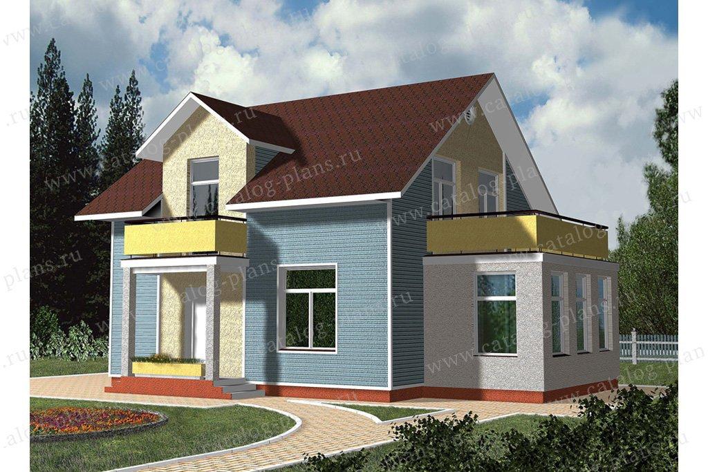 Проект жилой дом #59-55 материал - газобетон, стиль современный