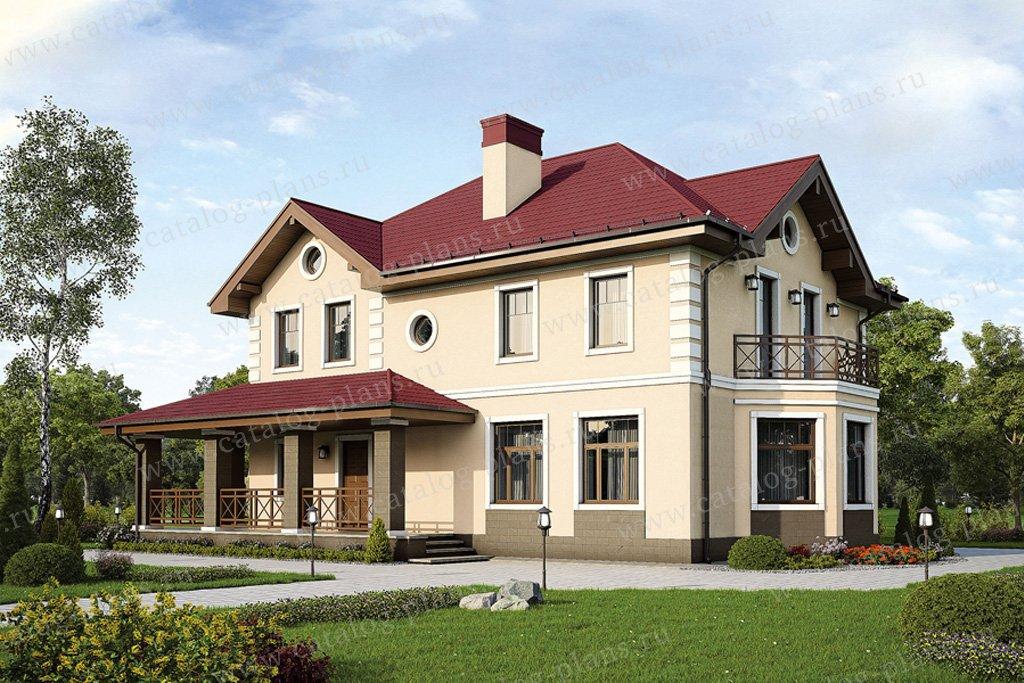 Проект жилой дом #57-29K материал - кирпич, стиль классический
