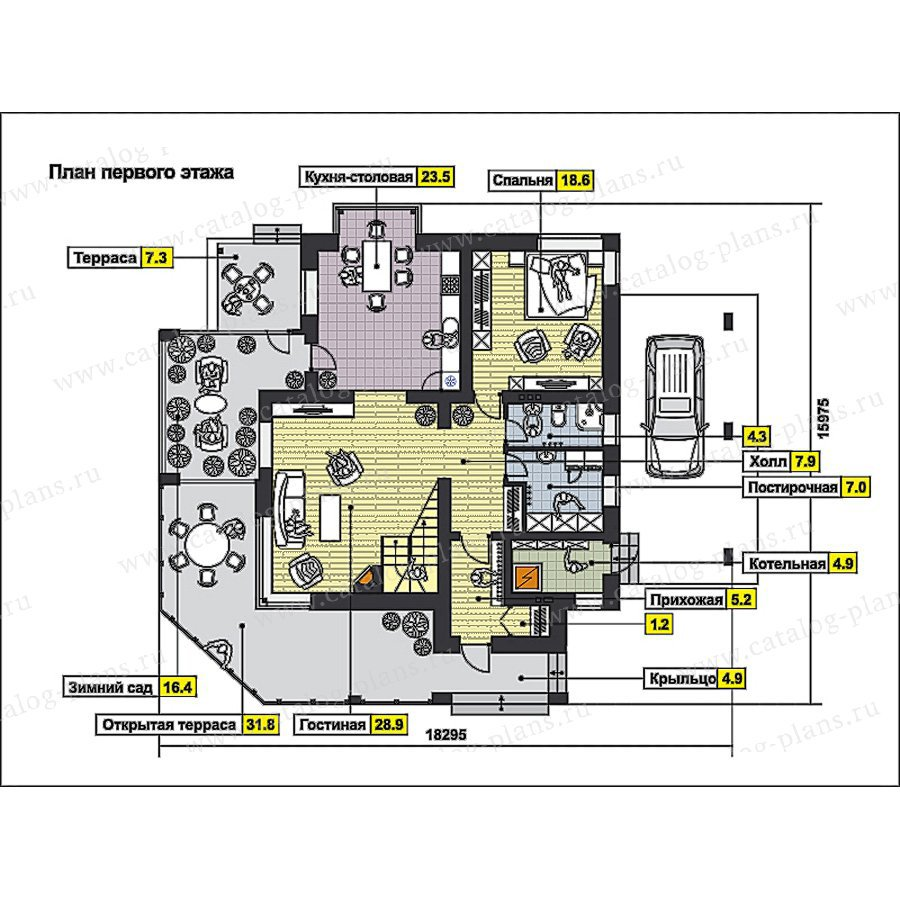 План 1-этажа проекта 59-68