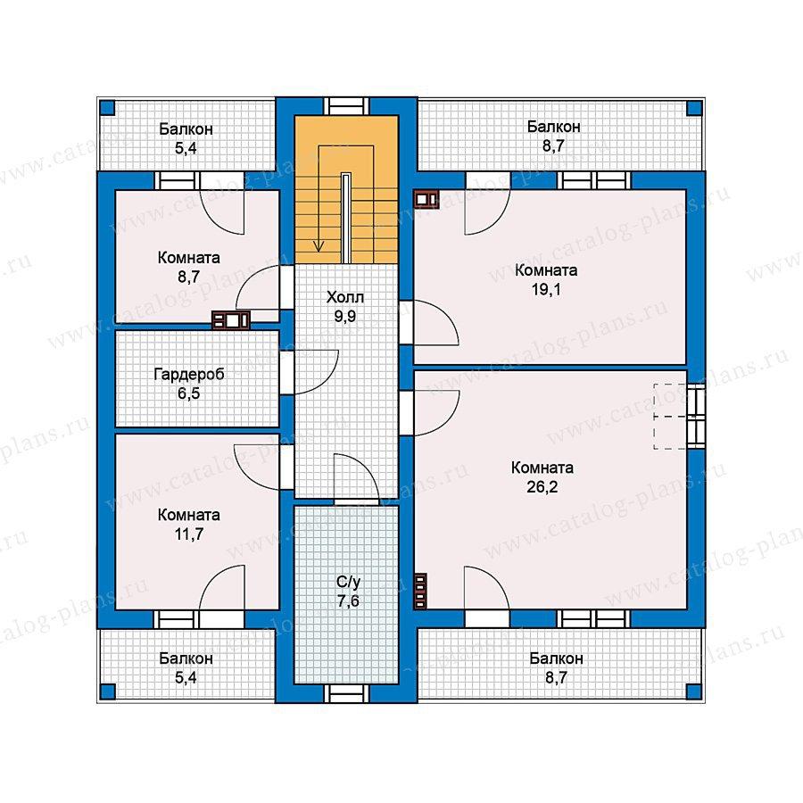 План 2-этажа проекта 59-58