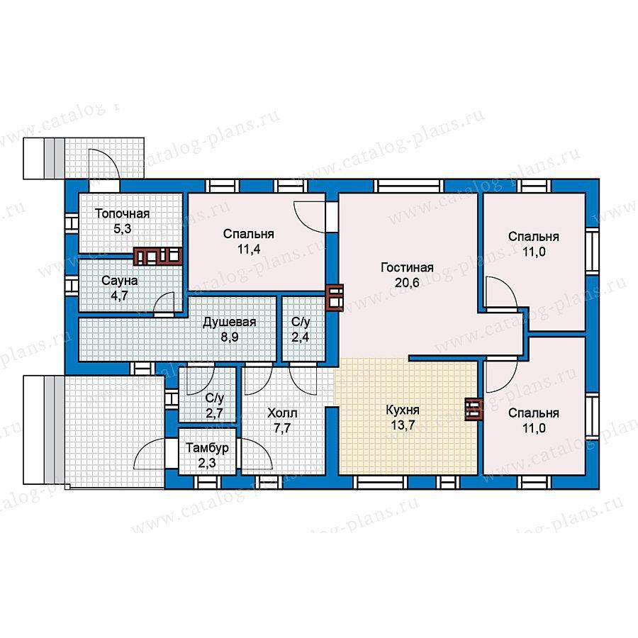 План 1-этажа проекта 59-61