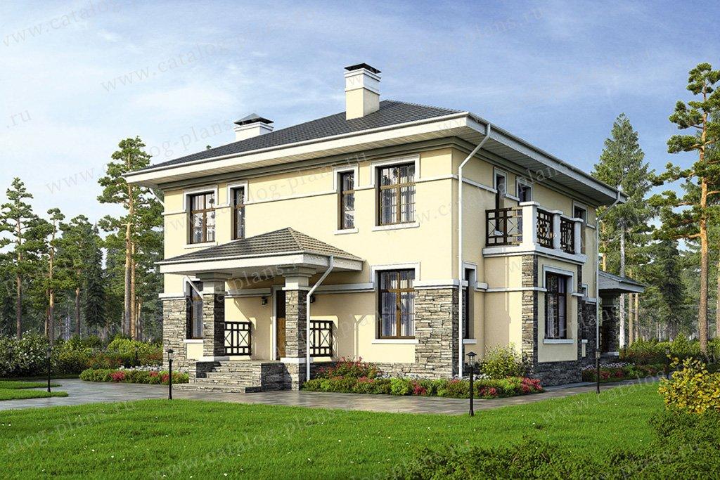 Проект жилой дом #57-30K материал - кирпич, стиль современный