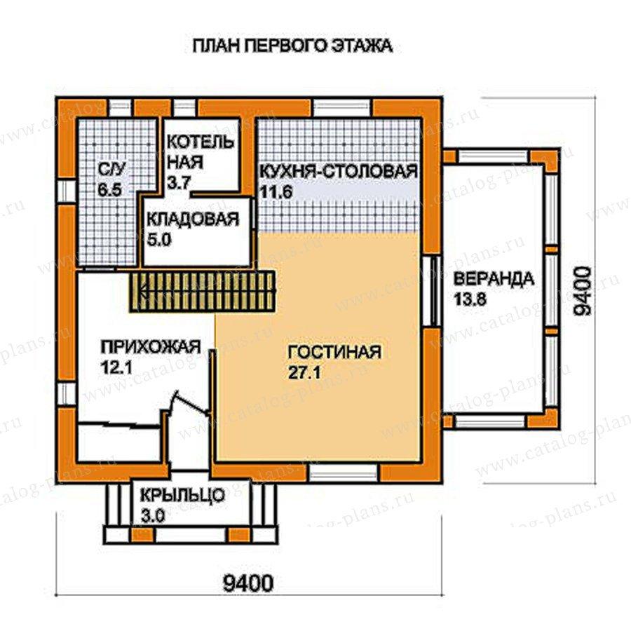 План 1-этажа проекта 59-55