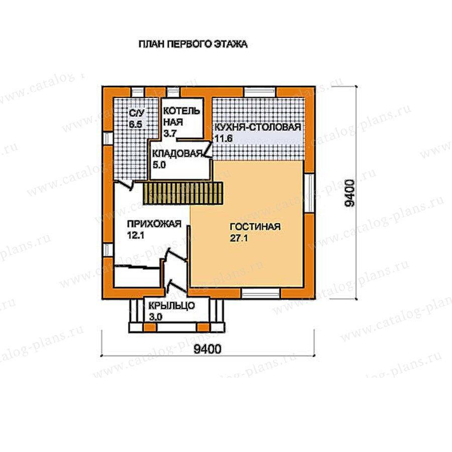 План 1-этажа проекта 59-51