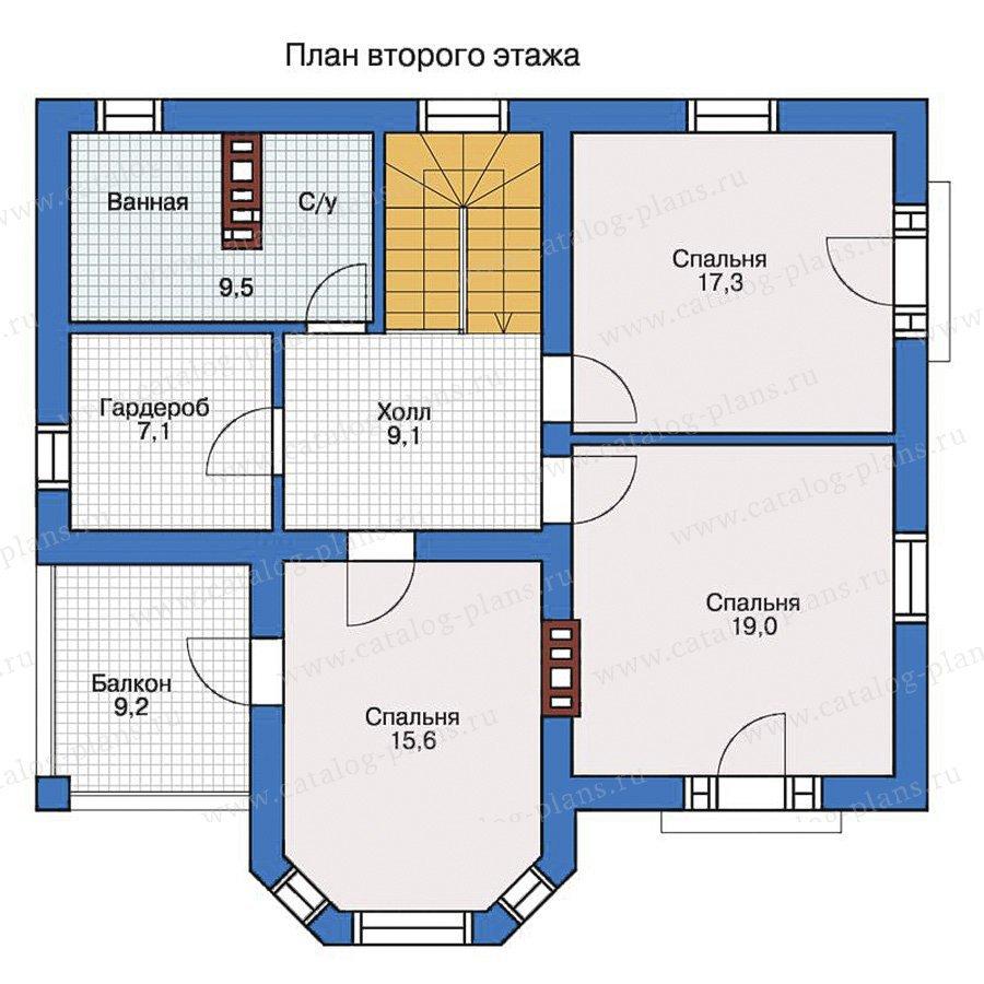 План 2-этажа проекта 57-27L