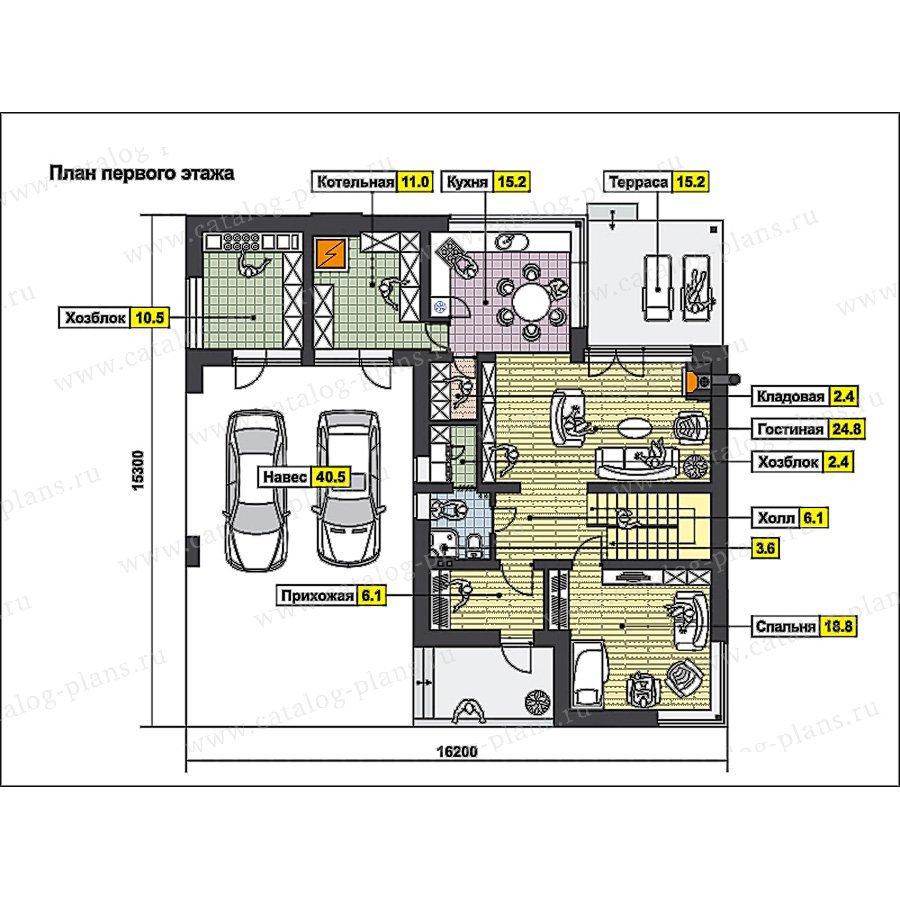 План 1-этажа проекта 59-67