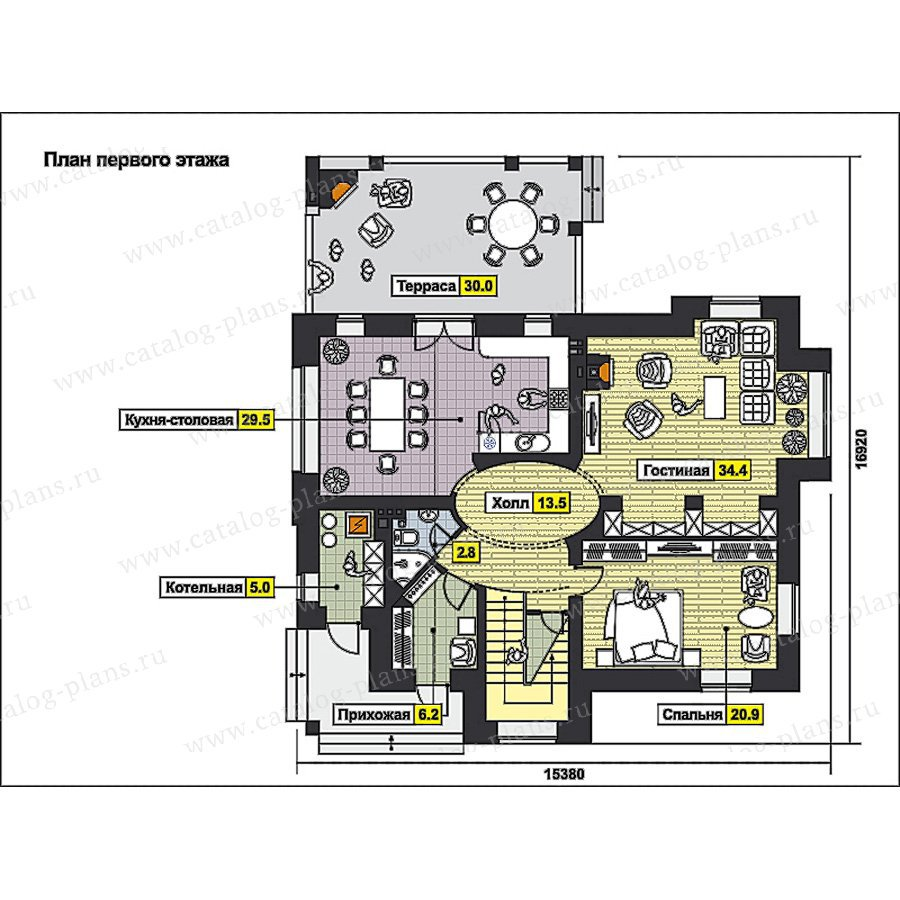 План 1-этажа проекта 59-76