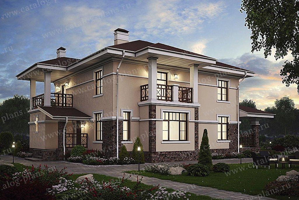 Проект жилой дом #57-46AK материал - кирпич, стиль современный