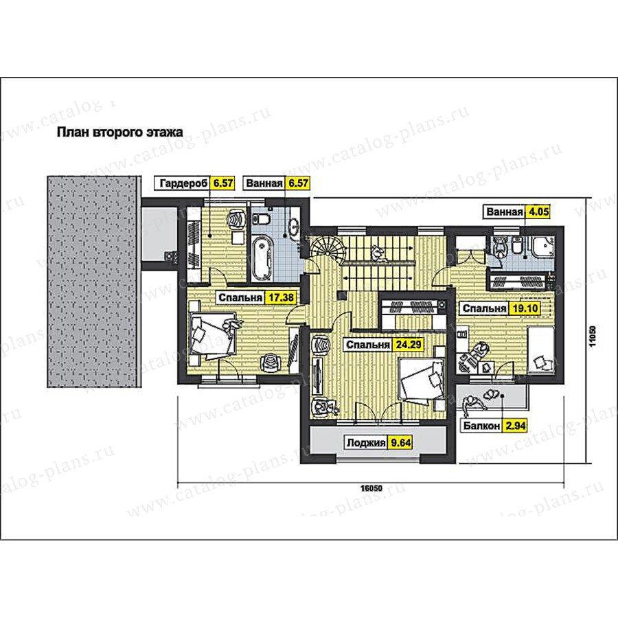 План 2-этажа проекта 59-77