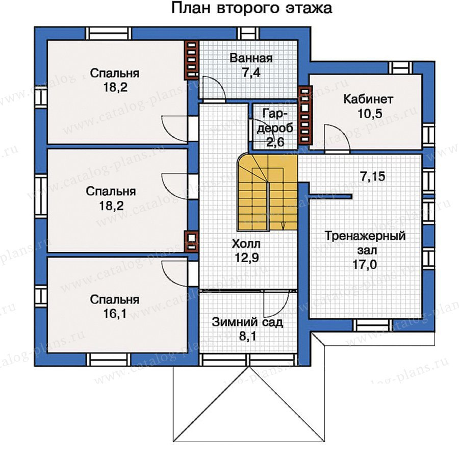 План 2-этажа проекта 57-22K