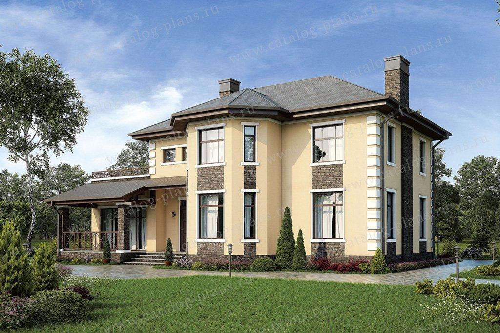 Проект жилой дом #57-25K материал - кирпич, стиль европейский