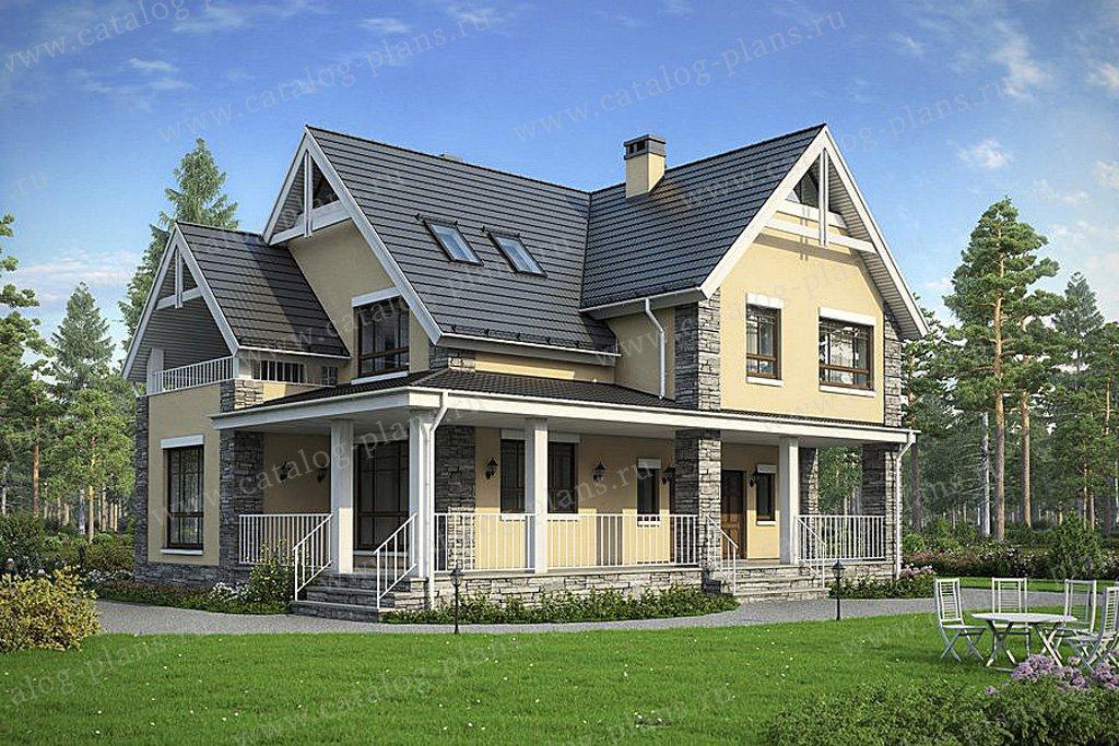 Проект жилой дом #57-36 материал - газобетон, стиль европейский