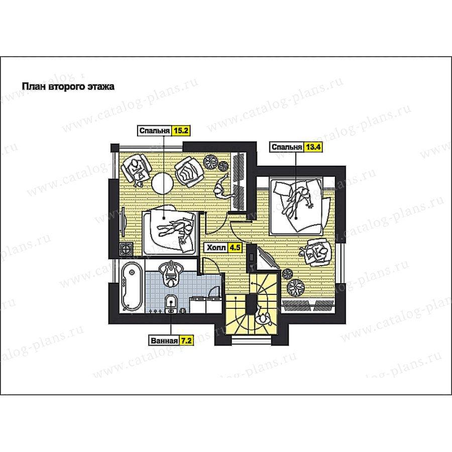 План 2-этажа проекта 59-69