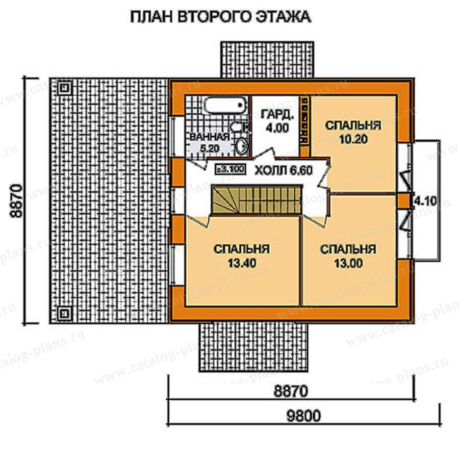 План 2-этажа проекта 59-52