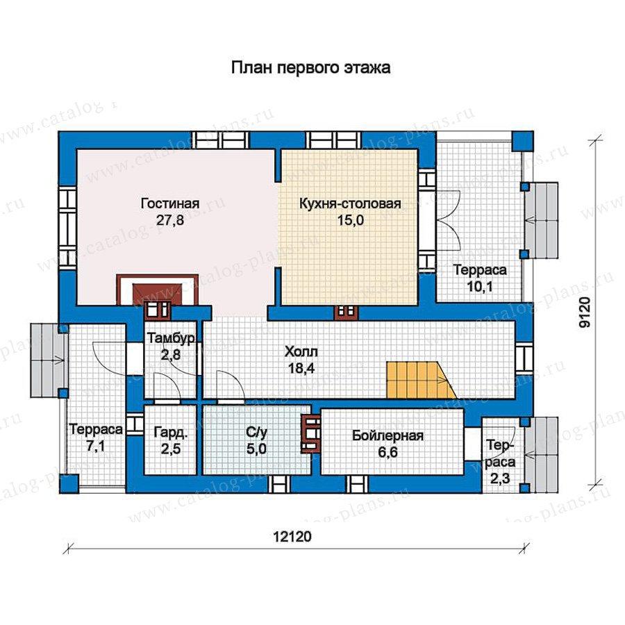 План 1-этажа проекта 57-19