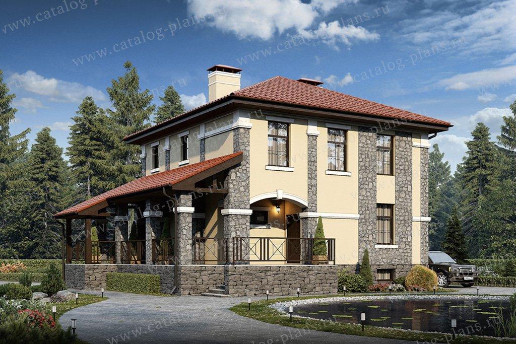Проект жилой дом #57-31 материал - газобетон, стиль европейский