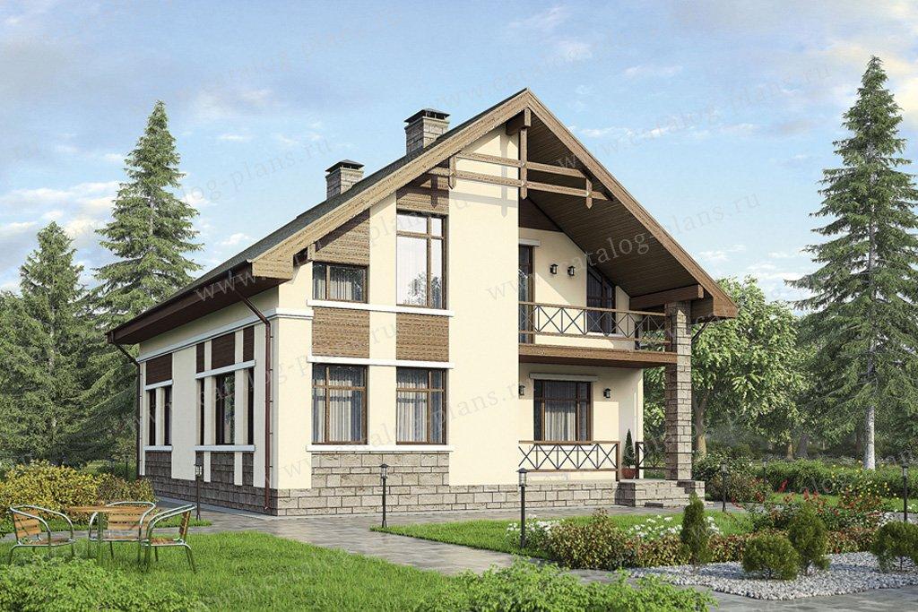 Проект жилой дом #57-35 материал - газобетон, стиль современный