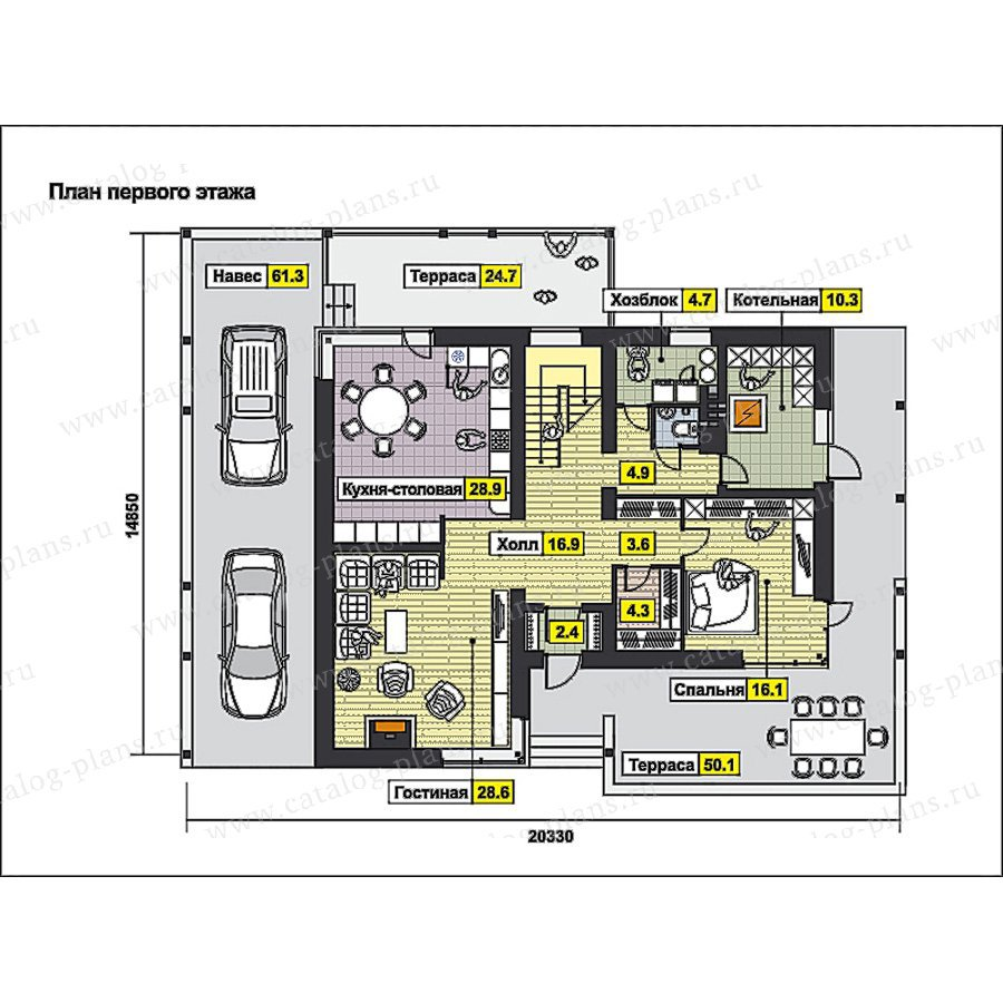 План 1-этажа проекта 59-71