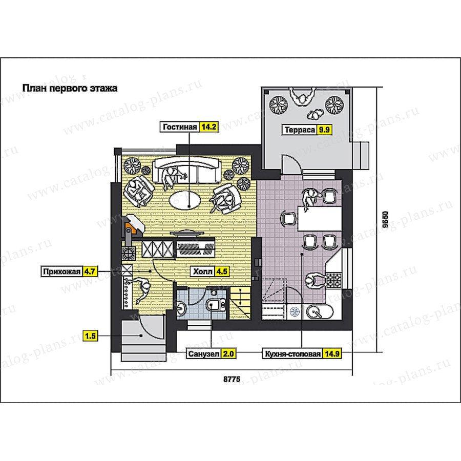 План 1-этажа проекта 59-69