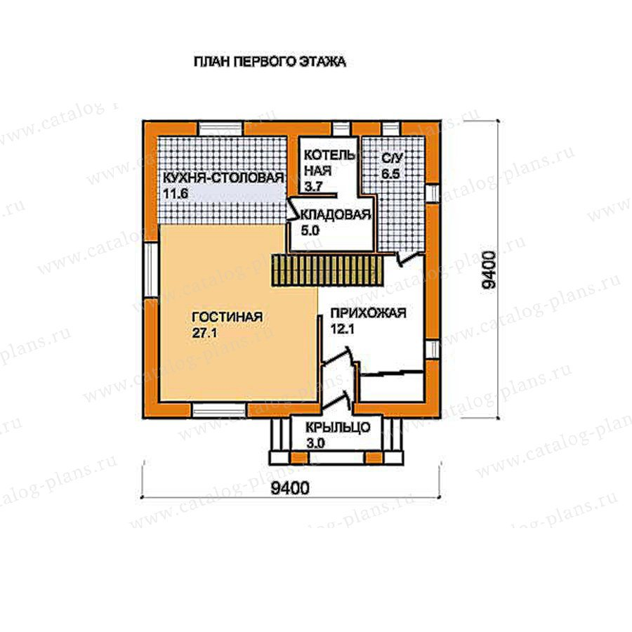 План 1-этажа проекта 59-54