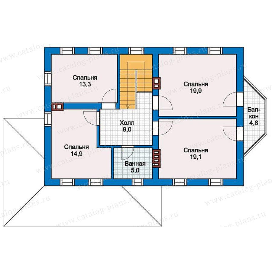 План 2-этажа проекта 57-29K
