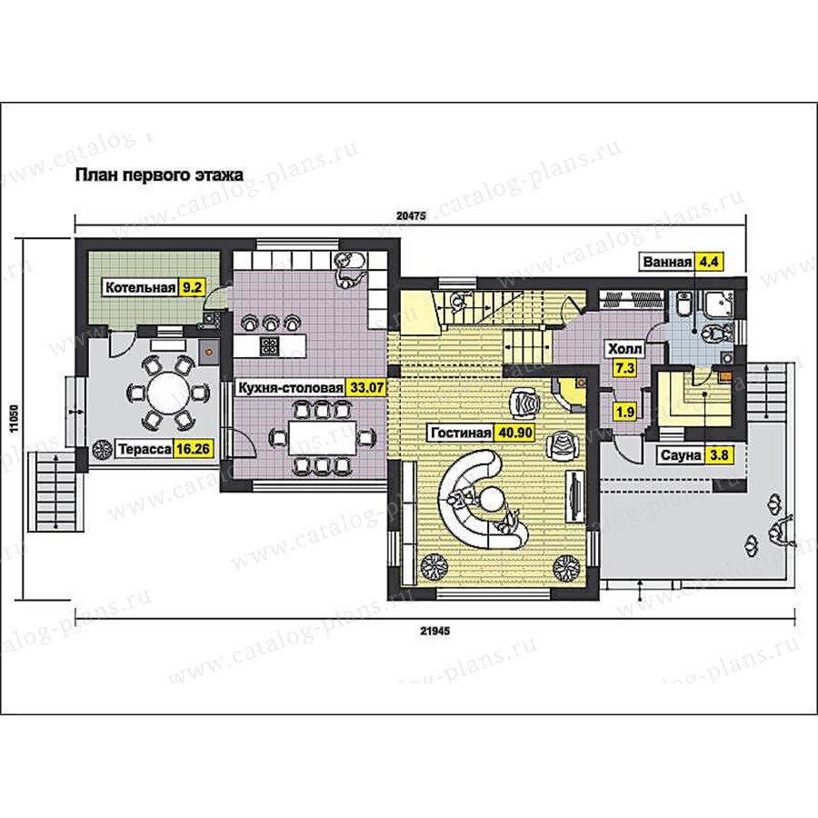 План 1-этажа проекта 59-77