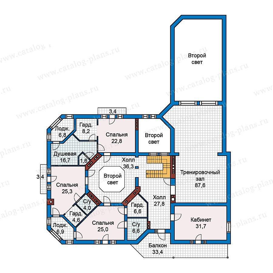 План 2-этажа проекта 59-59