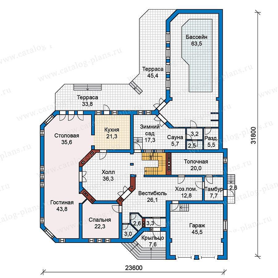 План 1-этажа проекта 59-59