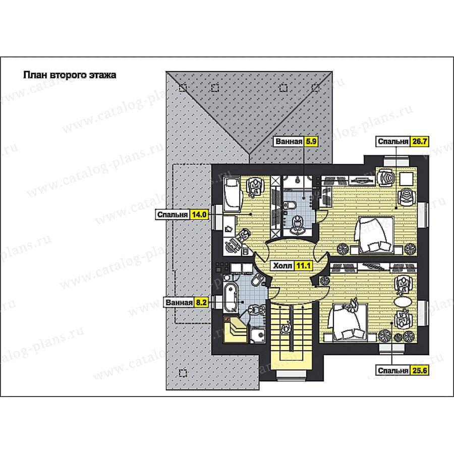 План 2-этажа проекта 59-76