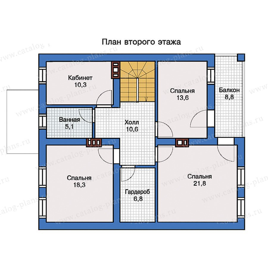 План 2-этажа проекта 57-35