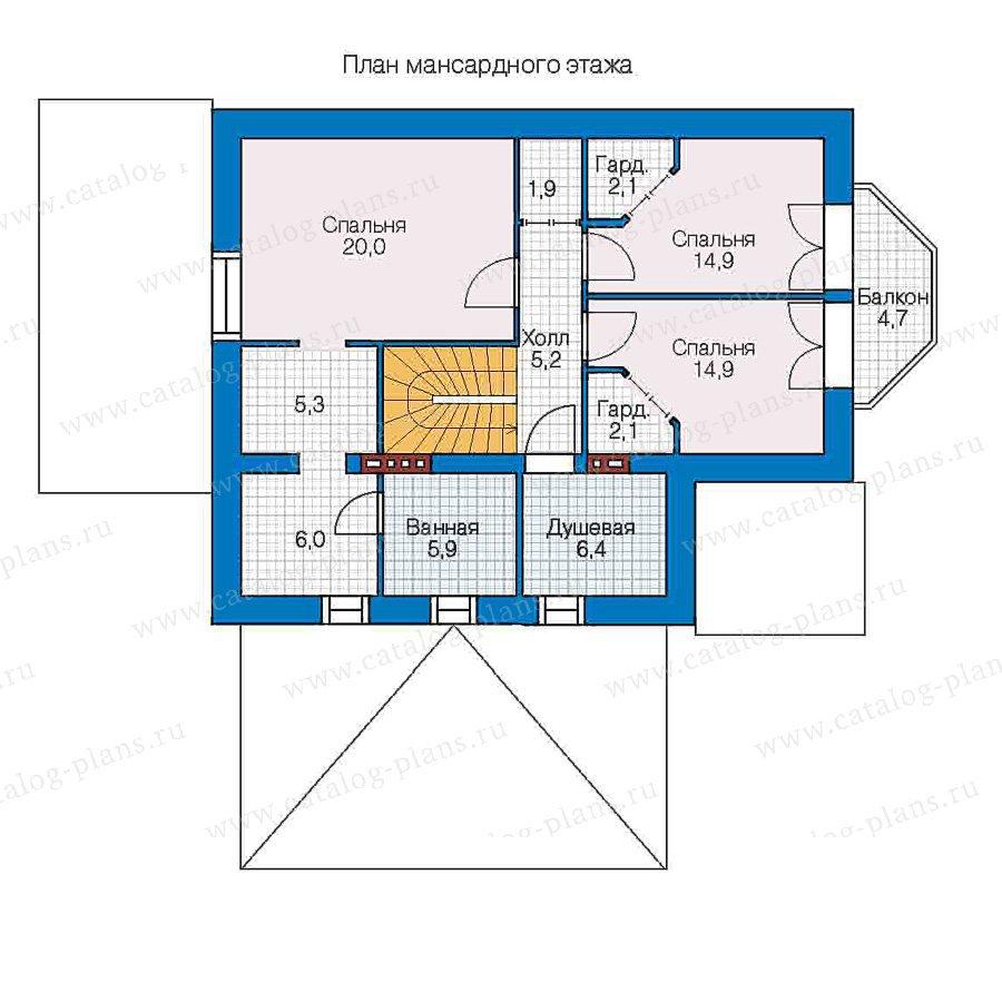 План 2-этажа проекта 48-02