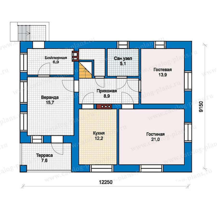 План 1-этажа проекта 57-45