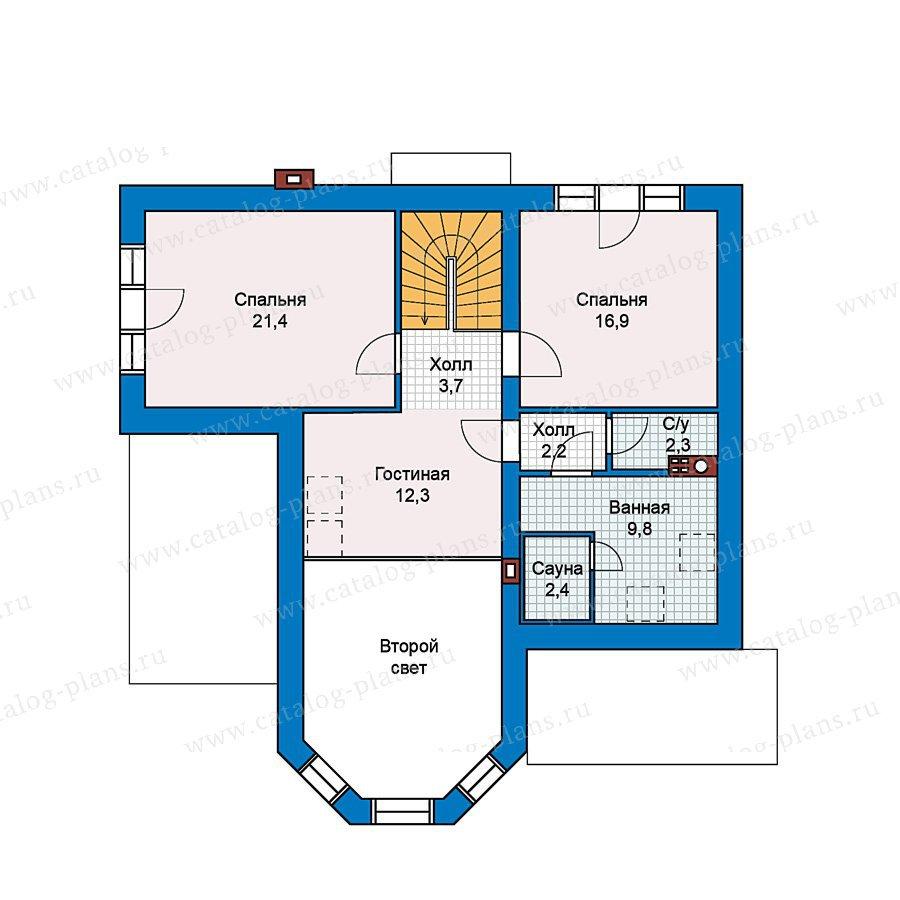 План 2-этажа проекта 37-06