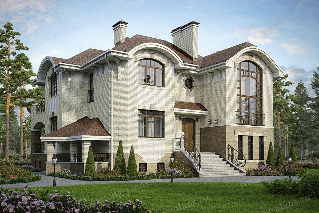 Проект жилой дом #37-17 материал - кирпич, стиль модерн