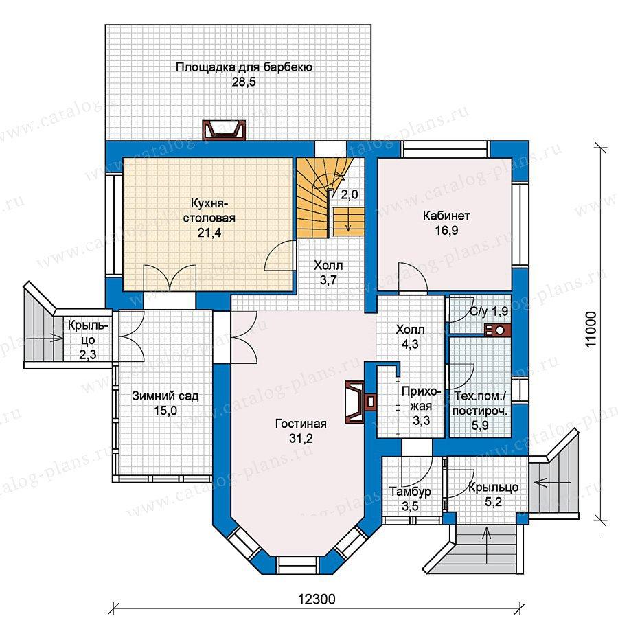 План 1-этажа проекта 37-06