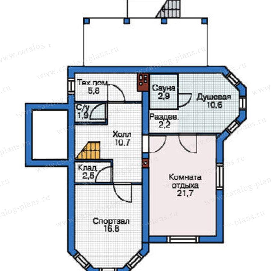 План 1-этажа проекта 37-68