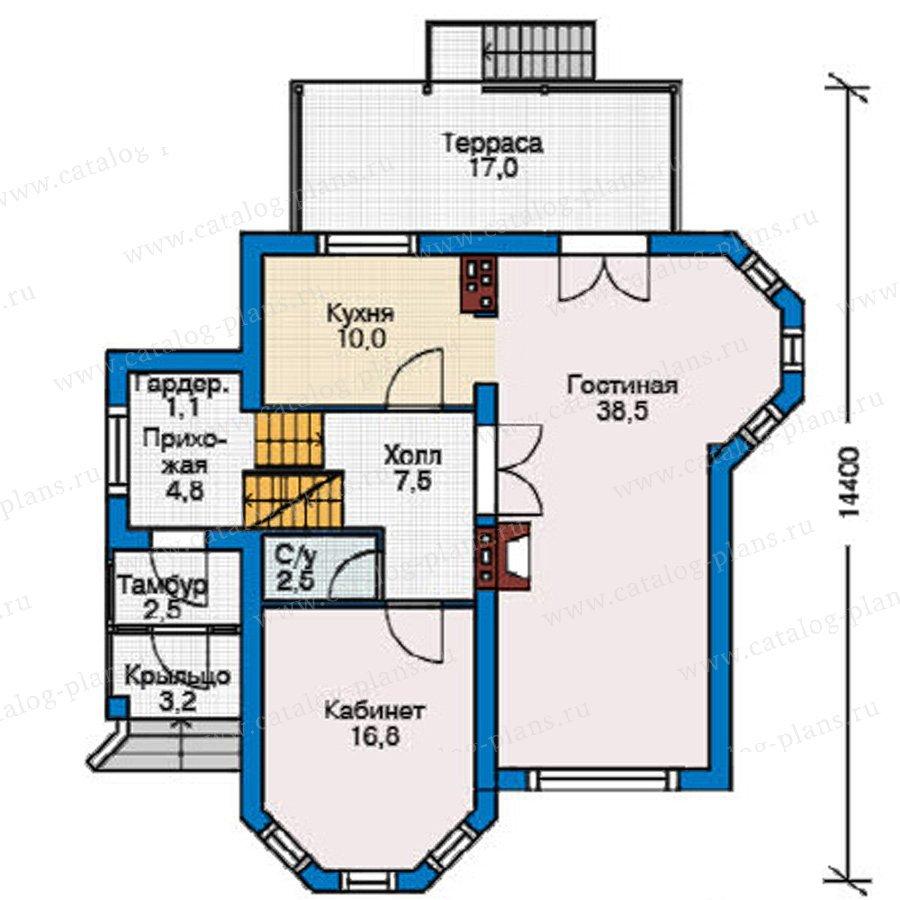 План 2-этажа проекта 37-68