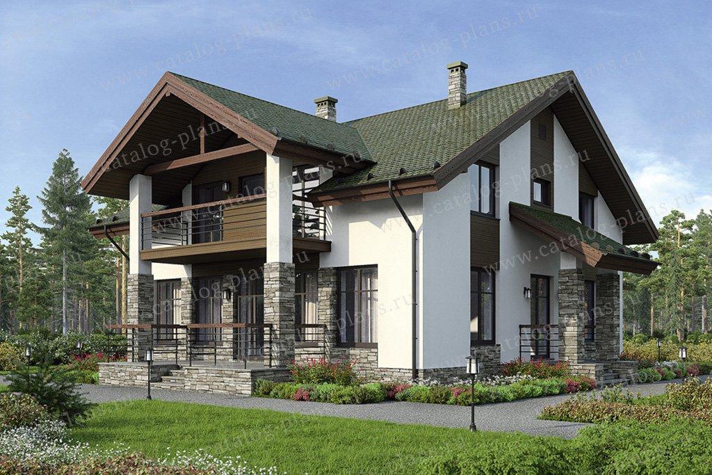 Проект жилой дом #38-94 материал - кирпич, стиль скандинавский