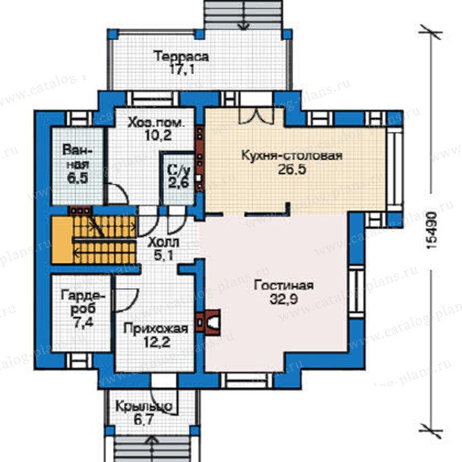 План 2-этажа проекта 38-54