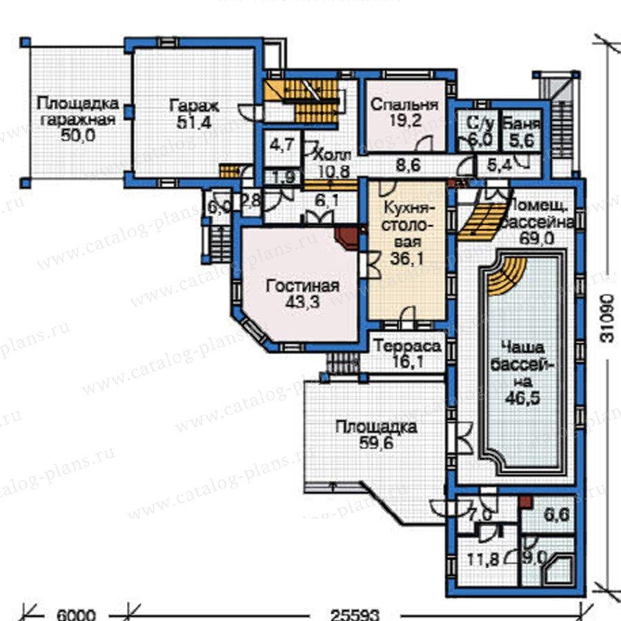 План 2-этажа проекта 37-63