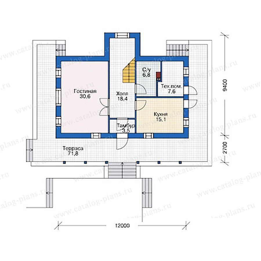 План 1-этажа проекта 38-77