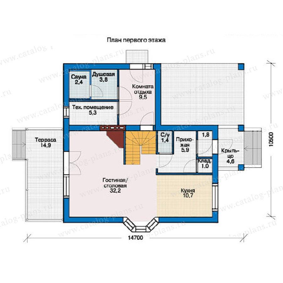 План 1-этажа проекта 37-32