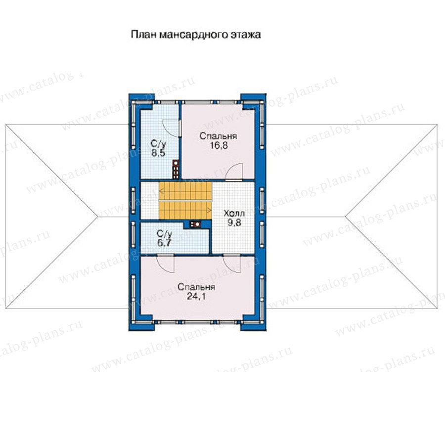 План 2-этажа проекта 39-38