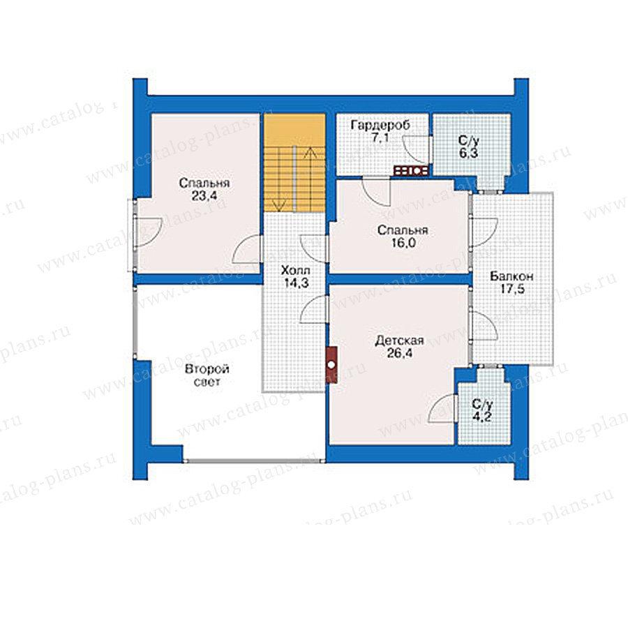 План 2-этажа проекта 39-03