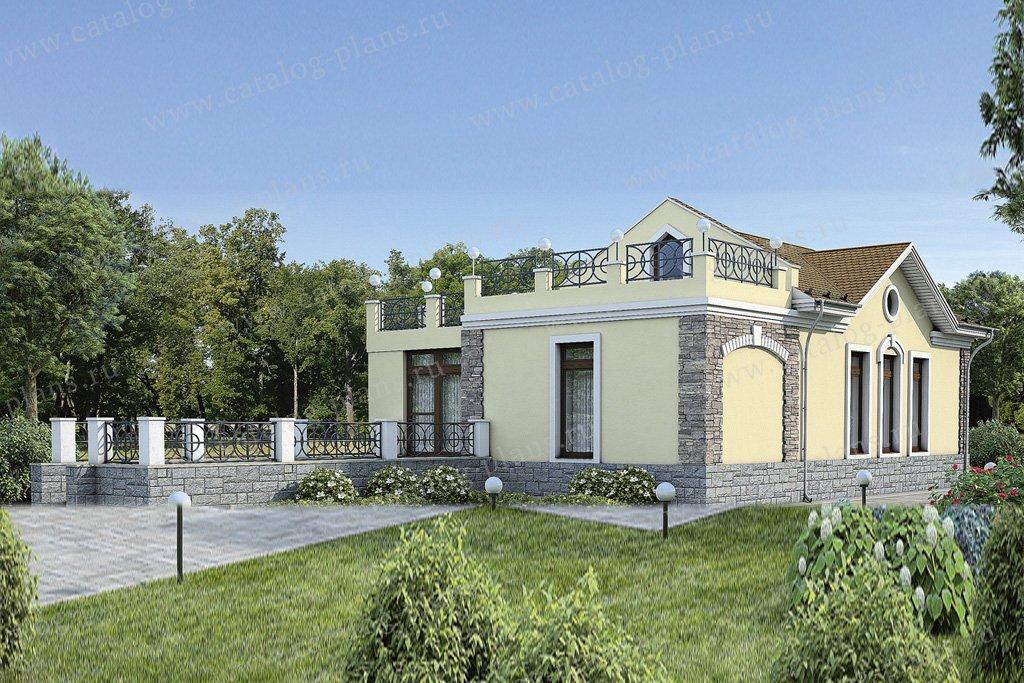 Проект жилой дом #37-59 материал - кирпич, стиль классический