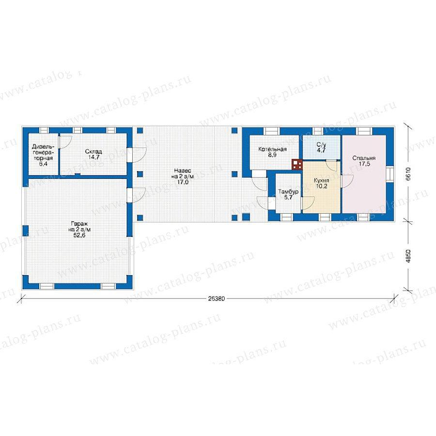 План 1-этажа проекта 39-48