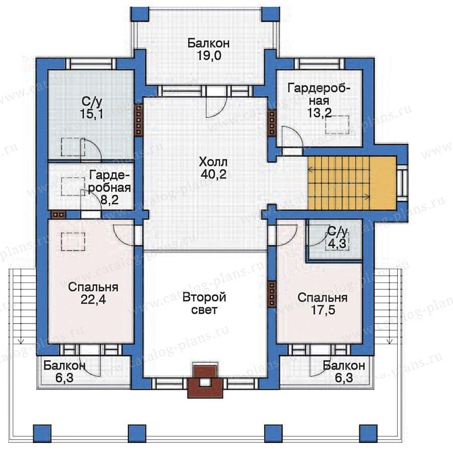 План 3-этажа проекта 38-28