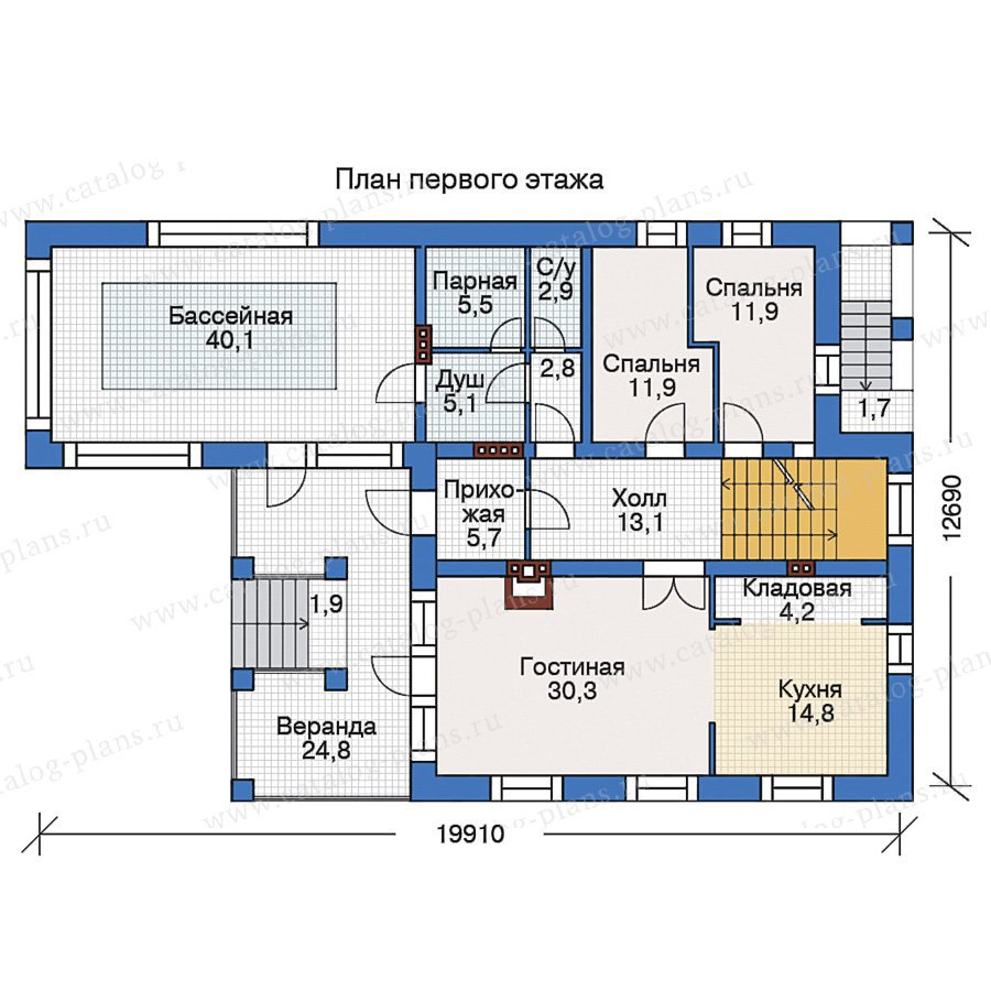 План 2-этажа проекта 38-56