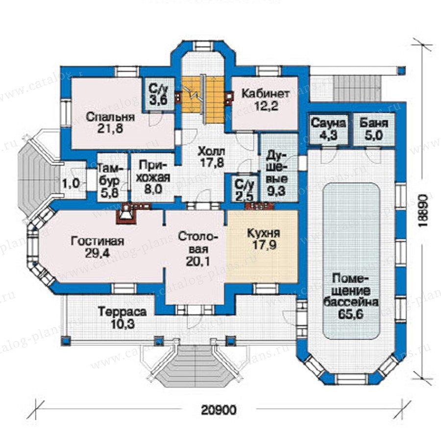 План 2-этажа проекта 38-17